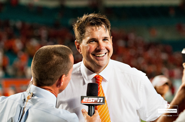 Al Golden talks to ESPN after beating Nebraska in OT