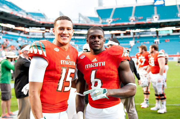 Brad Kaaya and Herb Waters