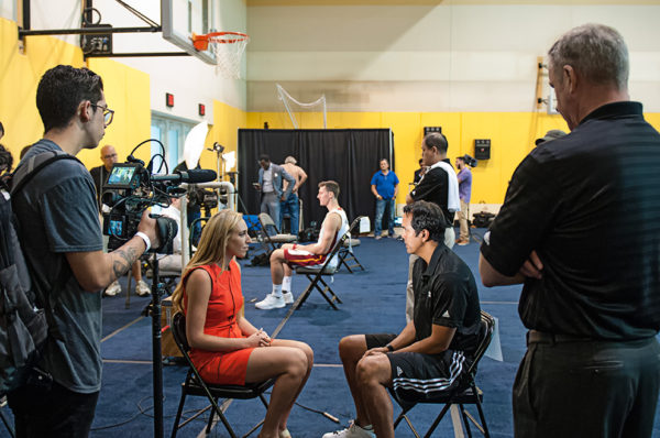 Local media conducting interviews