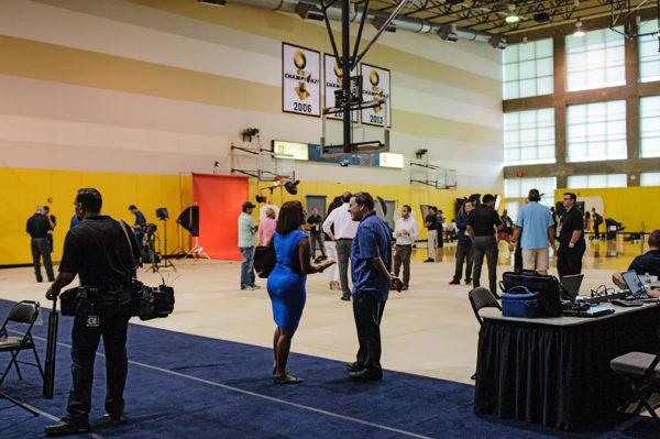 Miami Heat practice court