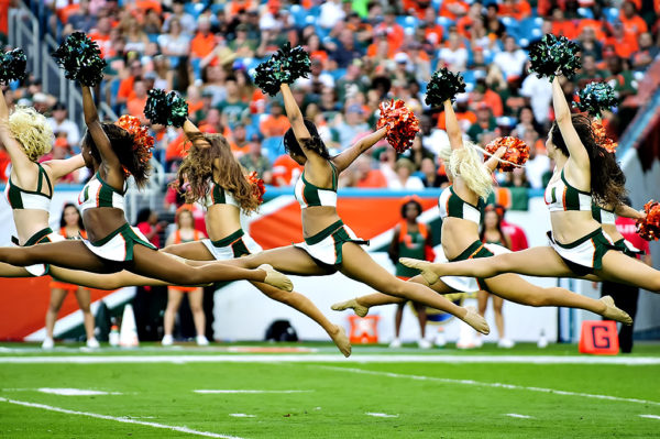 The Sunsations performing a routine in the 2nd quarter