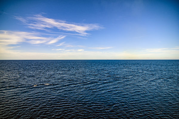Beautiful blue skies and seas