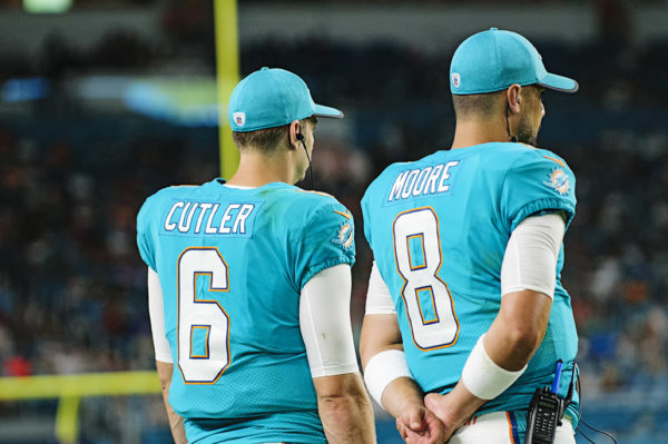 Dolphins QBs, Jay Cutler and Matt Moore