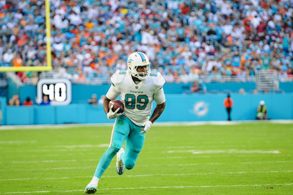 Julius Thomas (89) runs after a catch