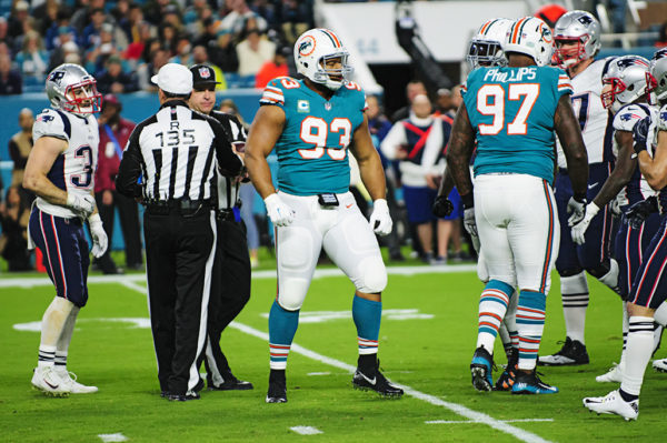 Ndamukong Suh (93) is pumped after a defensive stop