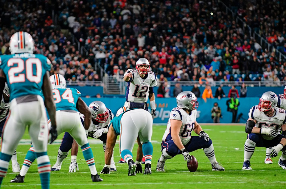 Photographing the Patriots vs the Dolphins on Monday Night Football