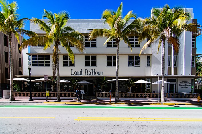 Lord Balfour, Miami Beach