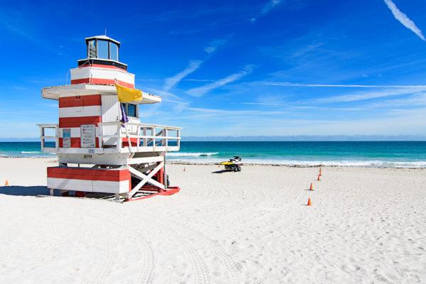 Miami Beach jetty lifeguard station
