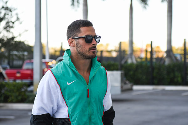 Miami Dolphins wide receiver Danny Amendola (80) arrives to Hard Rock Stadium