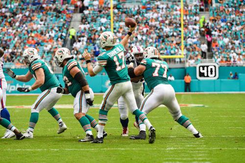 Miami Dolphins quarterback Ryan Tannehill (17)