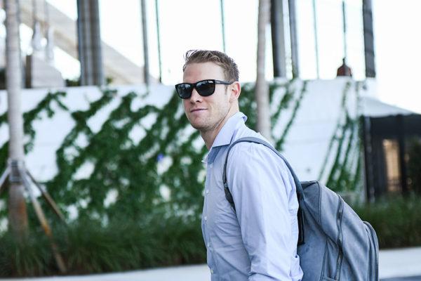 Miami Dolphins quarterback Ryan Tannehill (17) arrives to Hard Rock Stadium