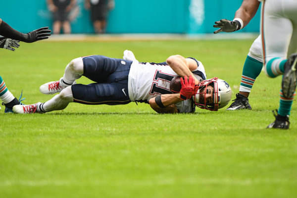 New England Patriots wide receiver Julian Edelman (11) catches a pass