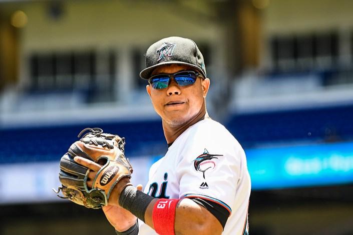 Miami Marlins second baseman Starlin Castro #13