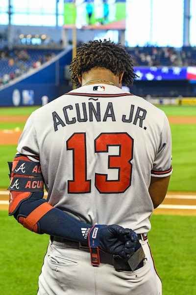 Atlanta Braves left fielder Ronald Acuna Jr. #13