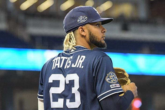 San Diego Padres shortstop Fernando Tatis Jr. #23 - San Diego Padres vs. Miami Marlins at Marlins Park