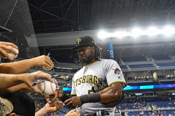 Pittsburgh Pirates first baseman Josh Bell #55 - Pittsburgh Pirates vs. Miami Marlins at Marlins Park