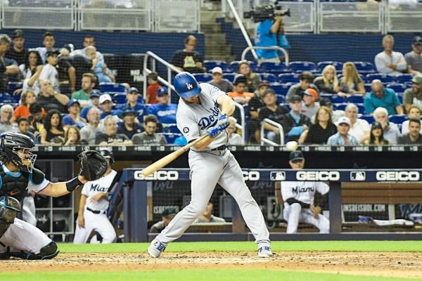 LA Dodgers left fielder Kyle Garlick