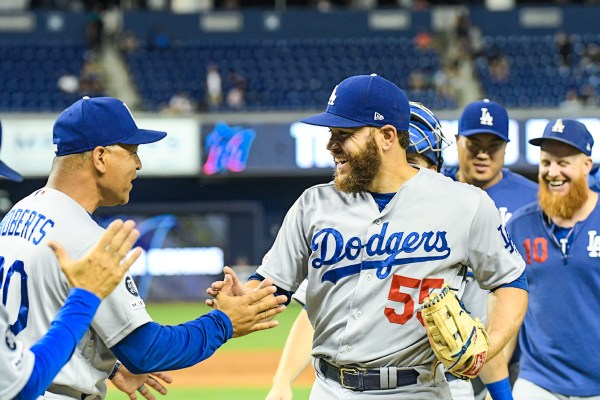 LA Dodgers catcher Russell Martin