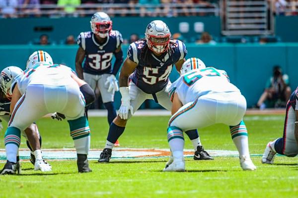 New England Patriots outside linebacker Dont'a Hightower #54 | New England Patriots vs. Miami Dolphins | September 15, 2019 | Hard Rock Stadium