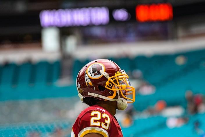 Washington Redskins cornerback Quinton Dunbar