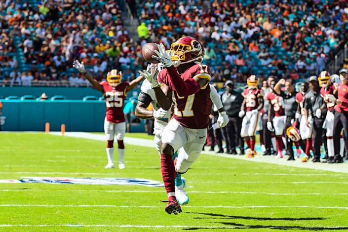 Washington Redskins wide receiver Terry McLaurin