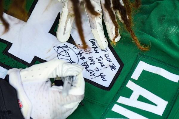 New York Jets linebacker Harvey Langi