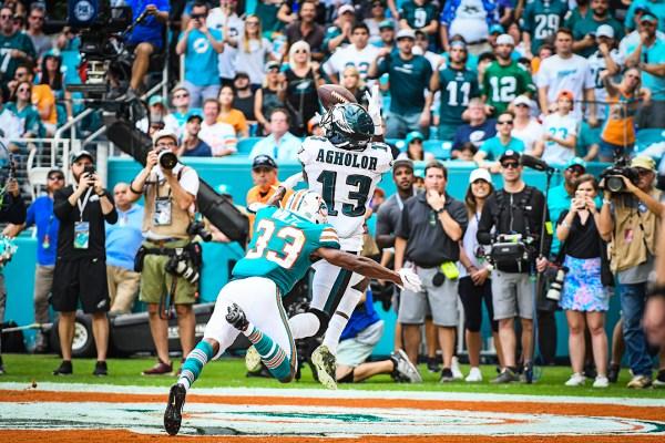 Philadelphia Eagles wide receiver Nelson Agholor