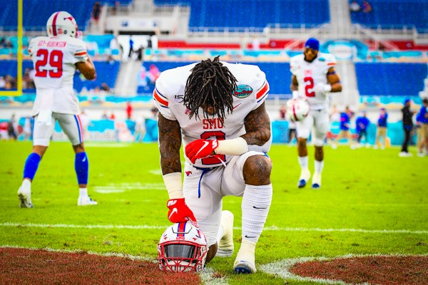 Southern Methodist Mustangs safety Patrick Nelson