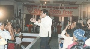 Bishop Jonathan speaking at Love Circle Ministry, Philippine Heart Center for Asia