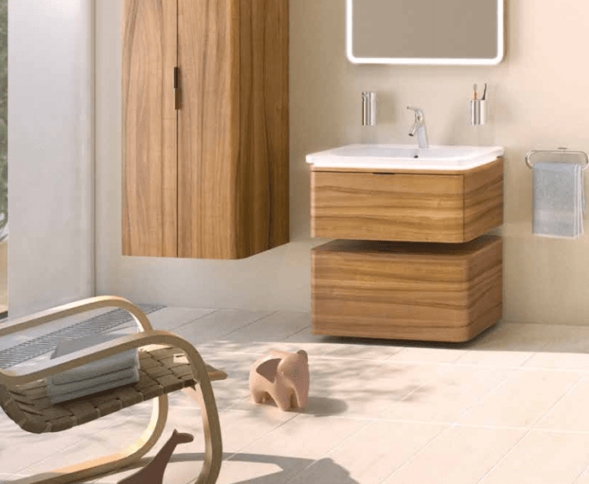 Nest Trendy Bathroom Beach
