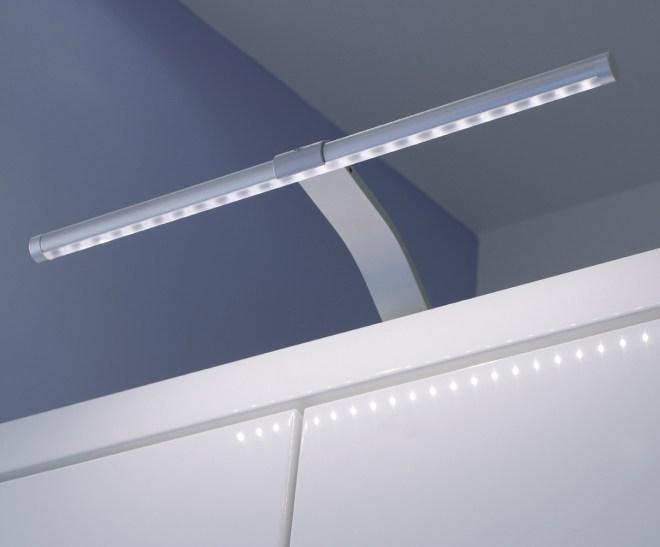 HD LED over cabinet T bar light
