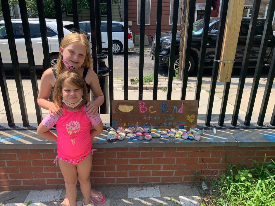 Kindness Rocks champions in Village Park