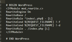 Typical WordPress .htaccess file