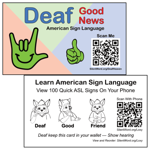 Deaf Good News Business Card
