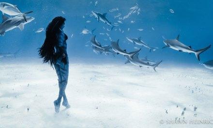 Une danseuse murmure à l'oreille des requins dans un ballet aquatique absolument ahurissant