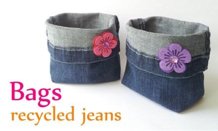 Comment transformer ses vieux jeans en objet «déco rangement» joli tout plein?
