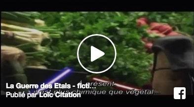 La guerre des étals – Parodie de Loïc Citations's – l'agriculture bio organise sa lutte contre l'agriculture intensive…