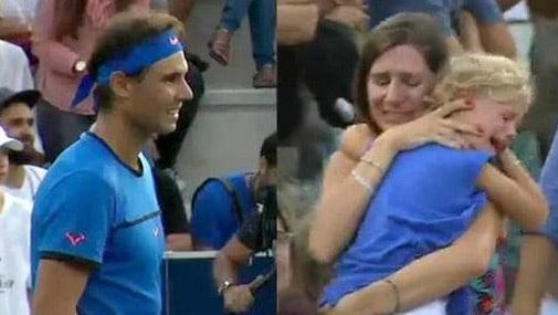 Elle perd sa fille dans les tribunes, Nadal arrête son match
