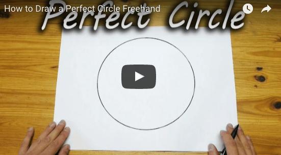 Génial: Comment dessiner un cercle parfait à mains libres