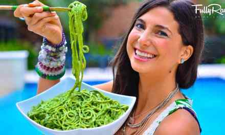 Spaghetti crues Vegan au pesto!