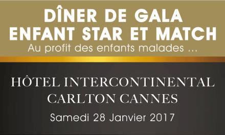 Le JDBN sera présent au dîner de gala «Enfant Star et Match» au profit des enfants malades.