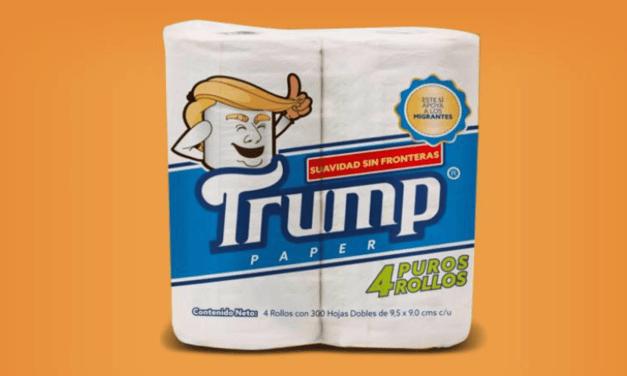 Un Mexicain a inventé un papier toilette «Trump», qui financera des organisations pour aider les migrants !