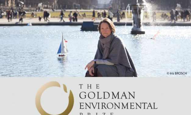 Claire Nouvian reçoit le prix Goldman pour l'environnement 2018