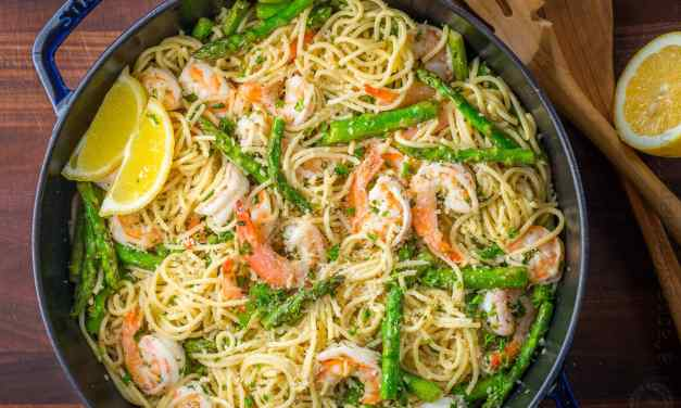 Spaghetti Asperges Crevettes!