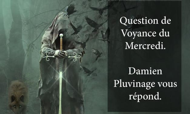 RÉPONSE DE DAMIEN PLUVINAGE À LA QUESTION DE VOYANCE OFFERTE DU 8 AOÛT 2018. GAGNANTE: Delphine
