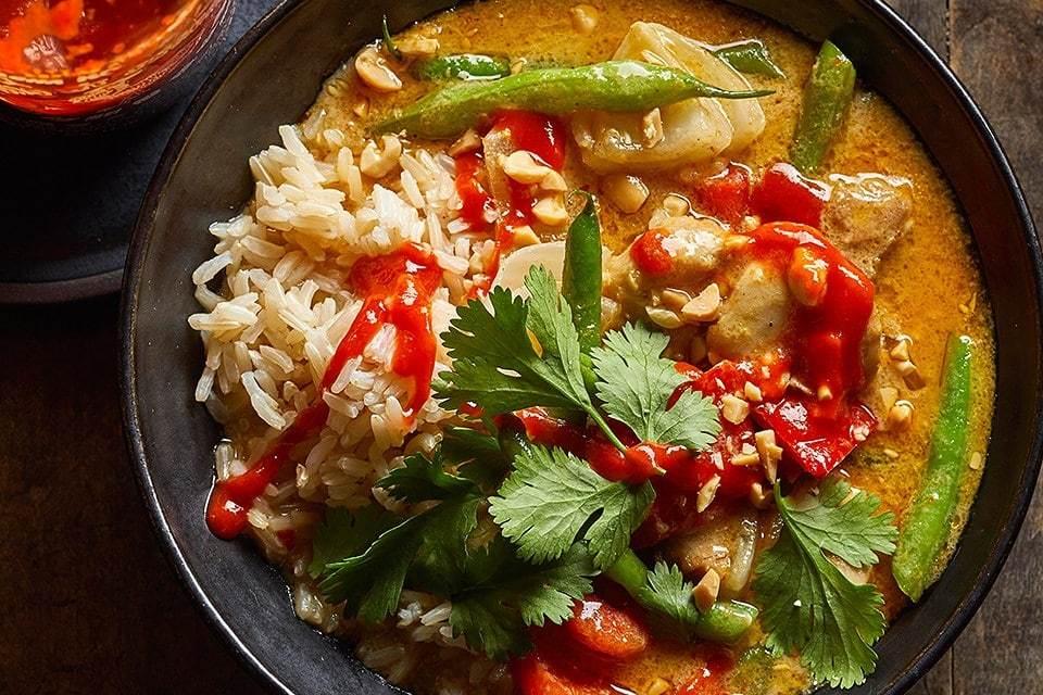 Cari au curry de poulet jaune thaï