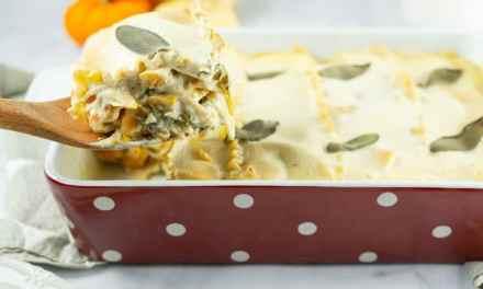 Lasagnes à la courge butternut et aux blettes (recette vegan)