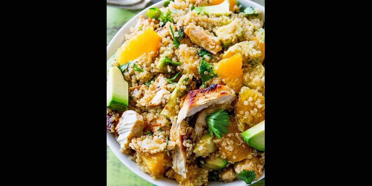 Salade de quinoa au poulet et aux agrumes