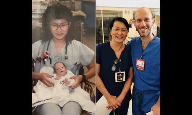 Cette infirmière découvre que son collègue n'est autre qu'un bébé qu'elle a soigné 28 ans plus tôt