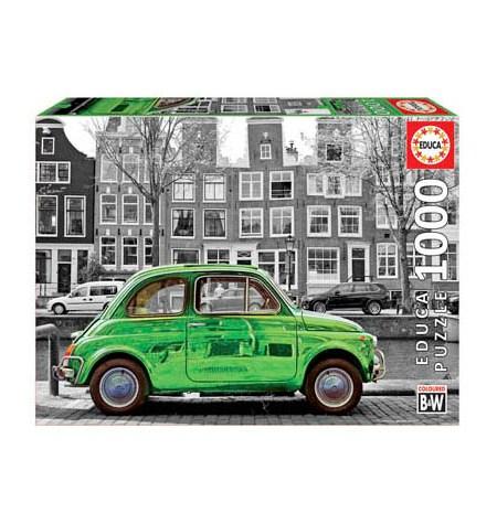 Puzzle 1000 B/N Coche en Ámsterdam